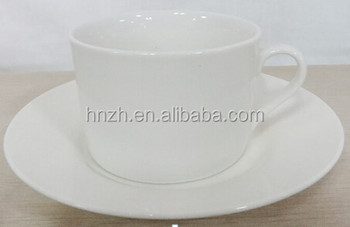 Stock cheap white ceramic coffee cup saucer