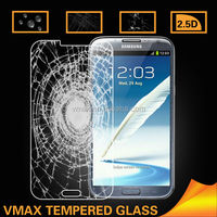 Top Sale 0.33mm Anti Broken tempered glass screen protector for Samsung galaxy note2 oem/odm