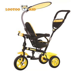 Alibaba china factory hot selling cheap price metal frame 3 wheel kids toy tricycle trolley