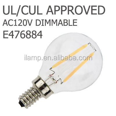UL Energy Star 5Years Quality Guarantee New product led filament C7 50lm e14 e12 0.5W led candle light led c37
