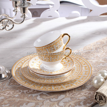 6pcs/set Bone china European style dinnerware set fashion design dinner <strong>plate</strong> and coffee cup set