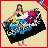 top quality free design cotton printed beach towels
