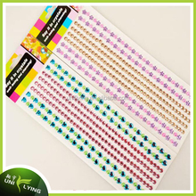 bling multicolor sheet Rhinestone Gem self adhesive stickers