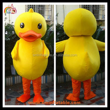 Yellow Duck Moving Mascot Costume Fur Advertising Cartoon Costume For Wearing