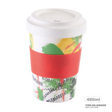 white type tube cup coffee mug Takeaway reusable cup
