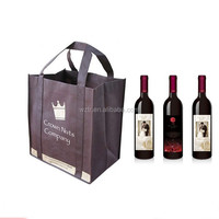 alibaba china custom non woven wine bottle travel bag with logo printing