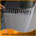 2017 best selling metal double hook chain anti static curtains for restaurant