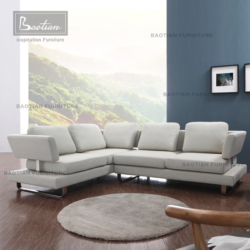 Baotian furntiure fabric sofa set designs modern wood sofa furniture pictures