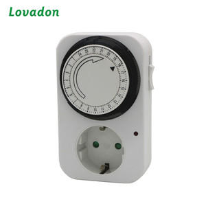 Timer Socket Greenhouse Grow Light Mechanical 24 hours mini electrical Timer