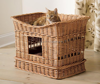 wholesale wicker pet basket wicker dog bed willow cat house