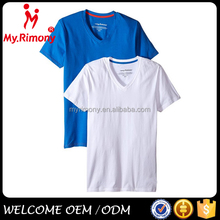 Fashion unisex multicolor comfort baseball bulk v-neck t shirt