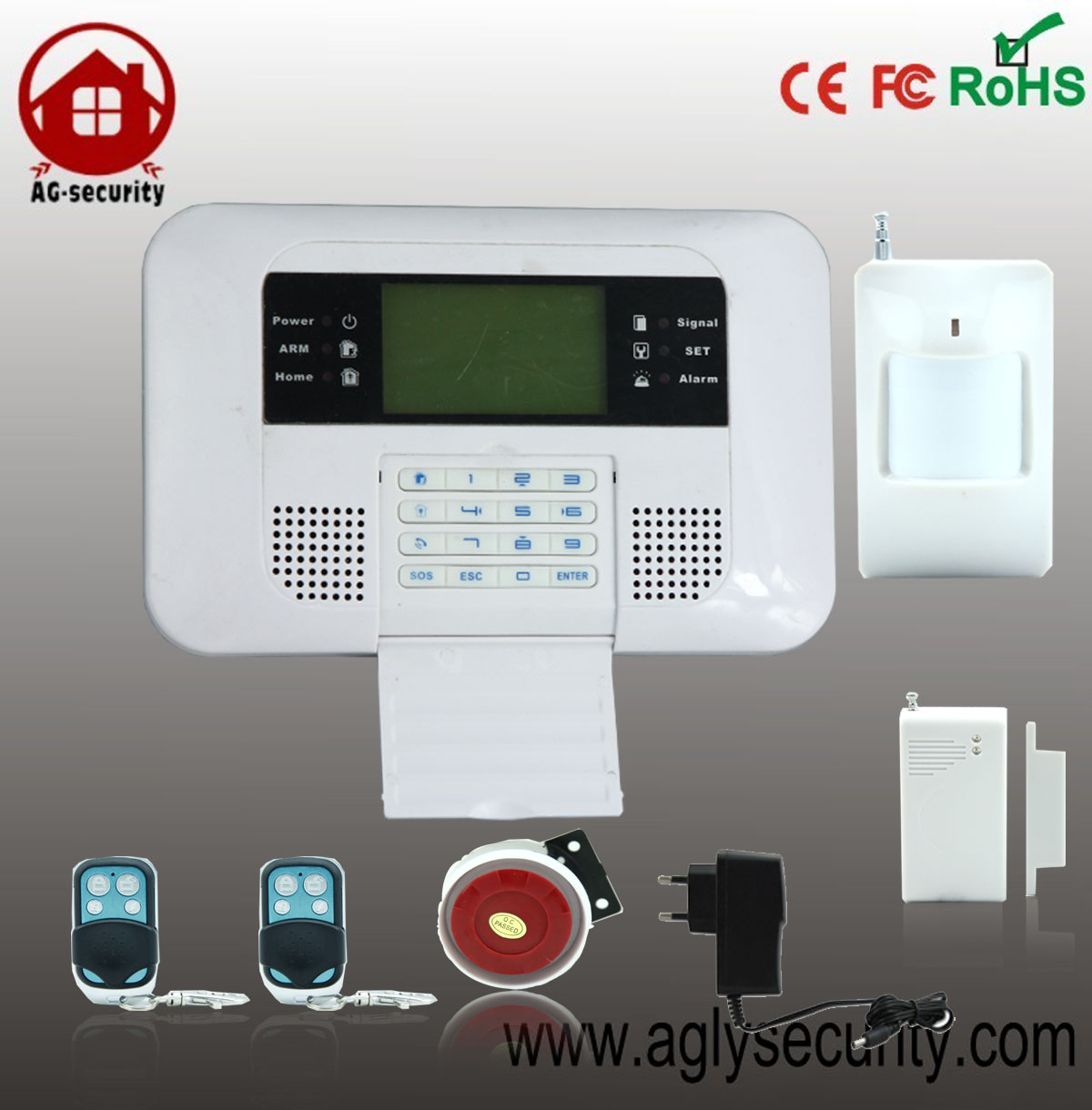 Wireless GSM PSTN Dual network smart LCD keypad Home Security Burglar Alarm System