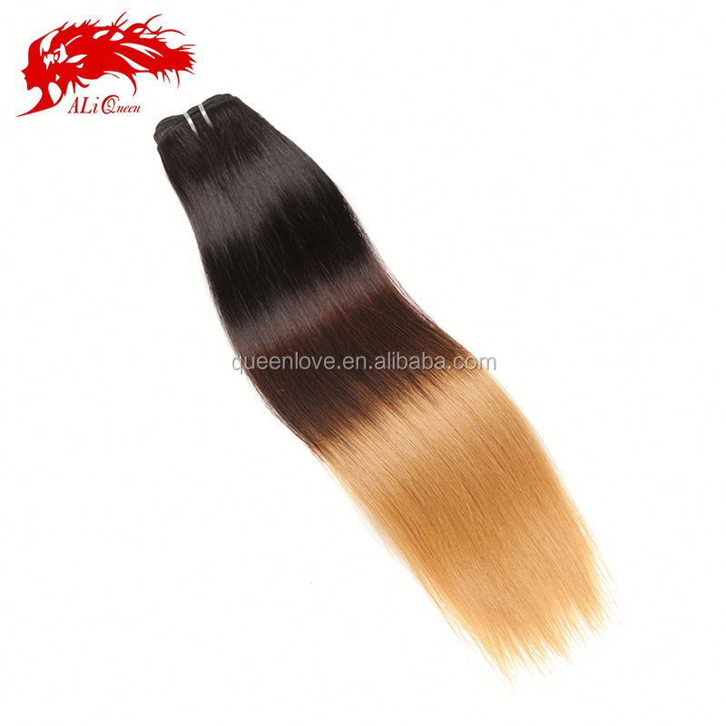 2014 New Factory Wholesale Ombre hair extension cheap cambodian hair straight 100% raw virgin unprocessed human hair