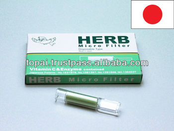 long cigarette filters HERB MICRO FILTER with herbal extract