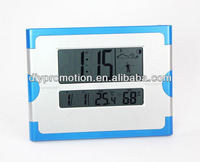 Promotional stick on digital lcd alarm clock with low MOQ and best price