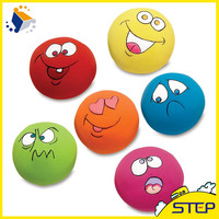 Smile Face Lovely Soft Plush Pet Toy Squraker Baby Toy Cat Toy Balls
