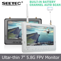 7 inch wireless monitor super light and slim 18mm width built-in integrated lipo battery channel auto searching toys