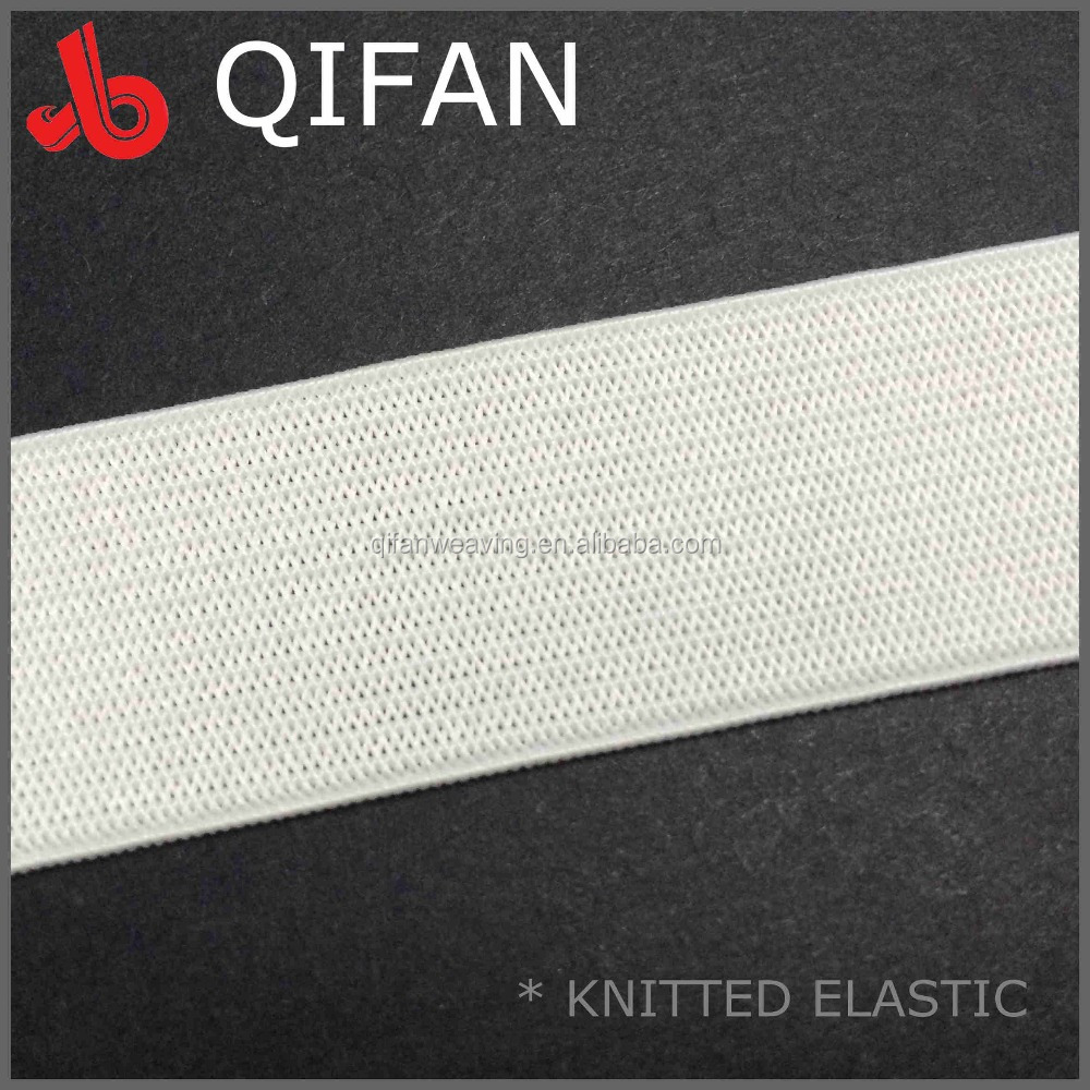 FACTORY WHOLESALE WEBBING 1 INCH WHITE KNIT ELASTIC BAND for CLOTHES