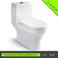 K14 Siphonic water saving one piece ceramic wc color toilet