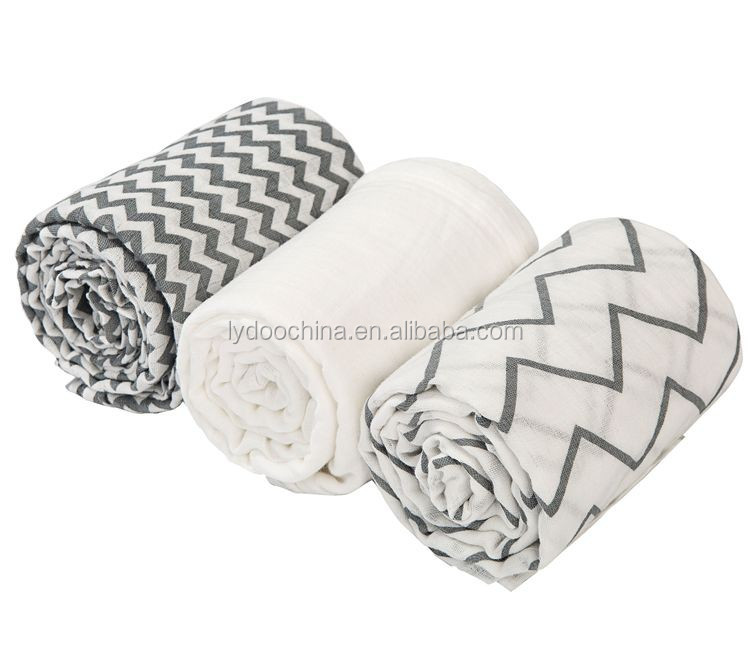 baby muslin swaddle with 100% cotton fabric