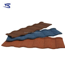 Asa coated spanish pvc color stone chip coated metal roof tile