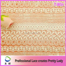 Chemical african lace fabrics for garment white color dyeable