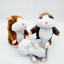 New Christmas Gift Plush Voice recordingTalking Hamster Plush Toy Repeat Talking Hamster toy for kids