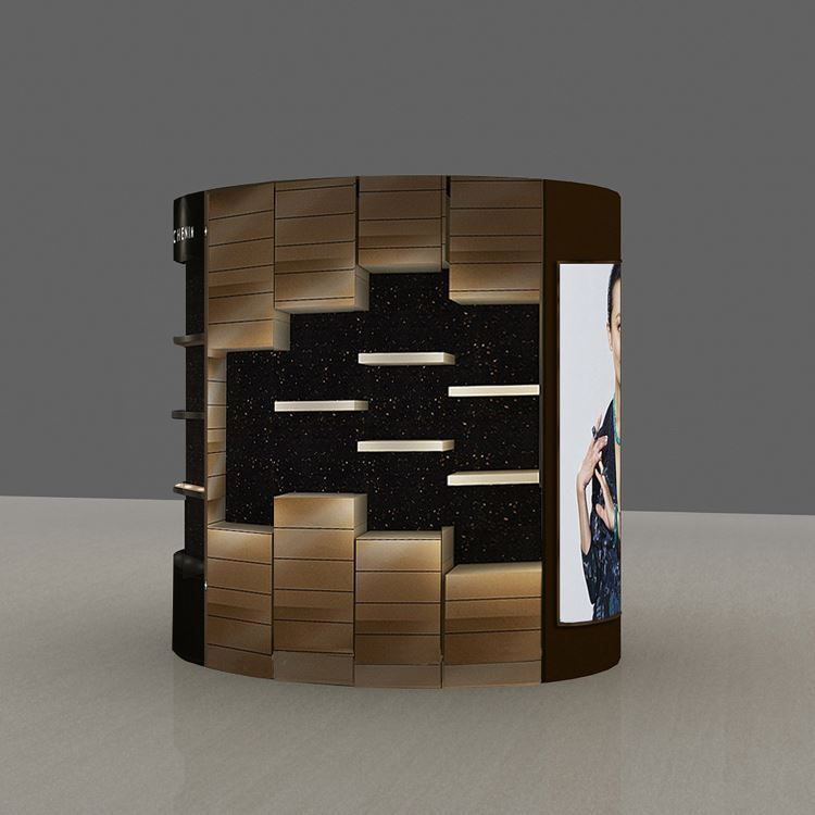custom Solid Wood lockable beauty jewelry display showcase