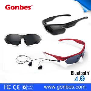Wireless Bluetooth headset sunglasses TAC polarized wearable smart custom sport sunglasses