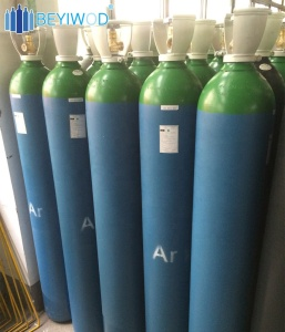 seamless steel high pressure 40L/50L 150bar refillable high purity argon cylinder argon gas prices