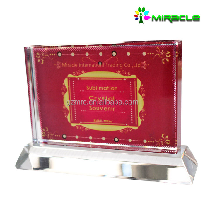 personalized 3d glass photo frame for sublimation printing