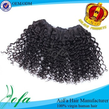 Wholesale remy weave extension mongolian virgin loose curly hair