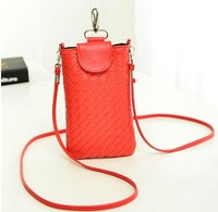 weave pu leather mobile phone bag shoulder long long strip bag