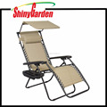 High Grade corner recliner chair metal frame with canopy