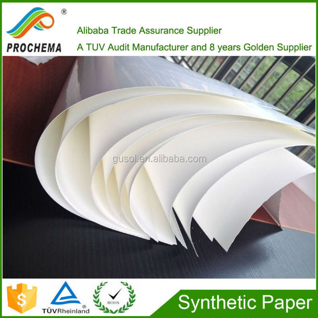 120um wristband materal waterproof polymethylene synthetic paper