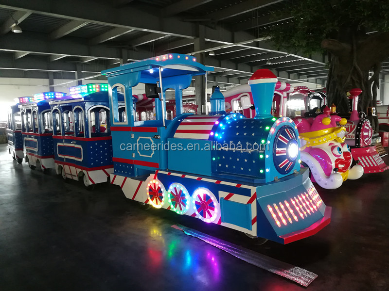 Hot Sale Luxury England Style Electric Steam Trains Outdoor Kids Carnival Rides for sale