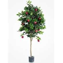 WS16051301 manufacturer custom size artificial apple tree with red apples