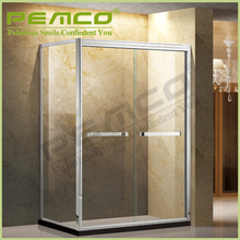 wholesale Hotel Bathroom Stainless Steel Frameless Pivot self contained glass shower cubicles price