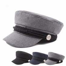 Hot Sale Japan Style Girl Student <strong>Hat</strong> and Boy Army Captain Cap