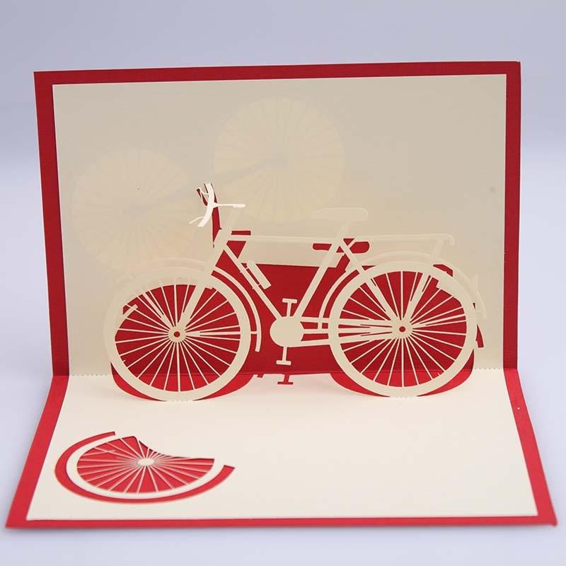 Как сделать открытку велосипед 645