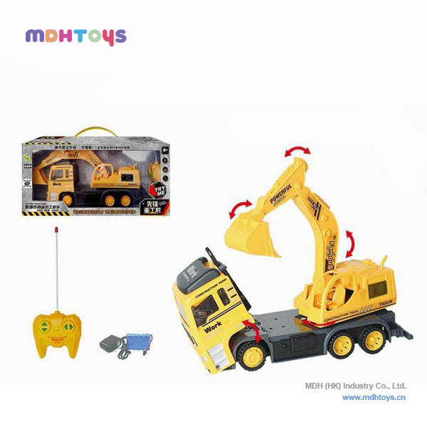 2014 hot sell plastic 5ch rc excavator for sale,with music