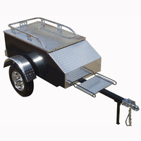 ECOCAMPOR US Small Aluminium Enclosed Folding Motorcycle Cargo Trailer