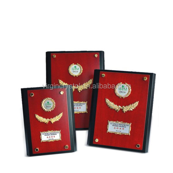 Personalized Wood Blank Plaque Awards with Engraved