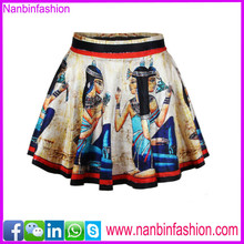 Nanbinfashion print neswest wholesale leather skirt figures pattern
