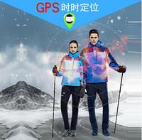 Outdoor GPS positioning mountaineering ski clothes AAC Jackets intelligent fever warm weatherproof jacket