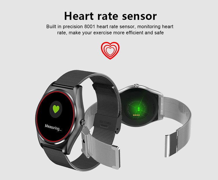 2017 Real heart rate test mtk2502c cpu TFT LCD screen smart watch