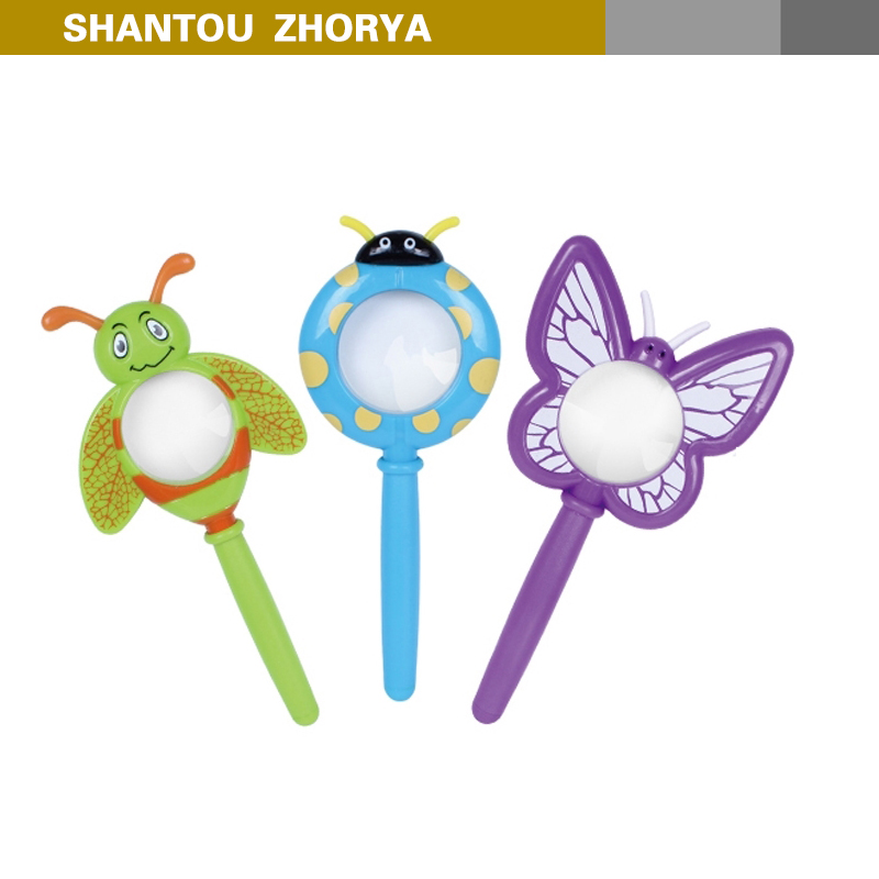 Interesting Insect Design Plastic Toy Magnifying Glass,portable mini magnifying glass