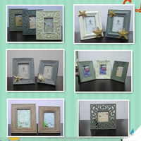 shabby chic timber look resin picture photo frame