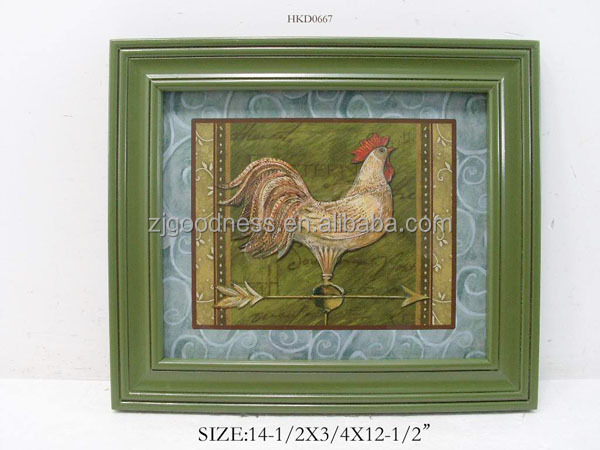 Rooster Framed <strong>Picture</strong>