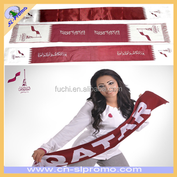 Jacquard Football Scarf And Football Fan Scarf with Wool knitting Material